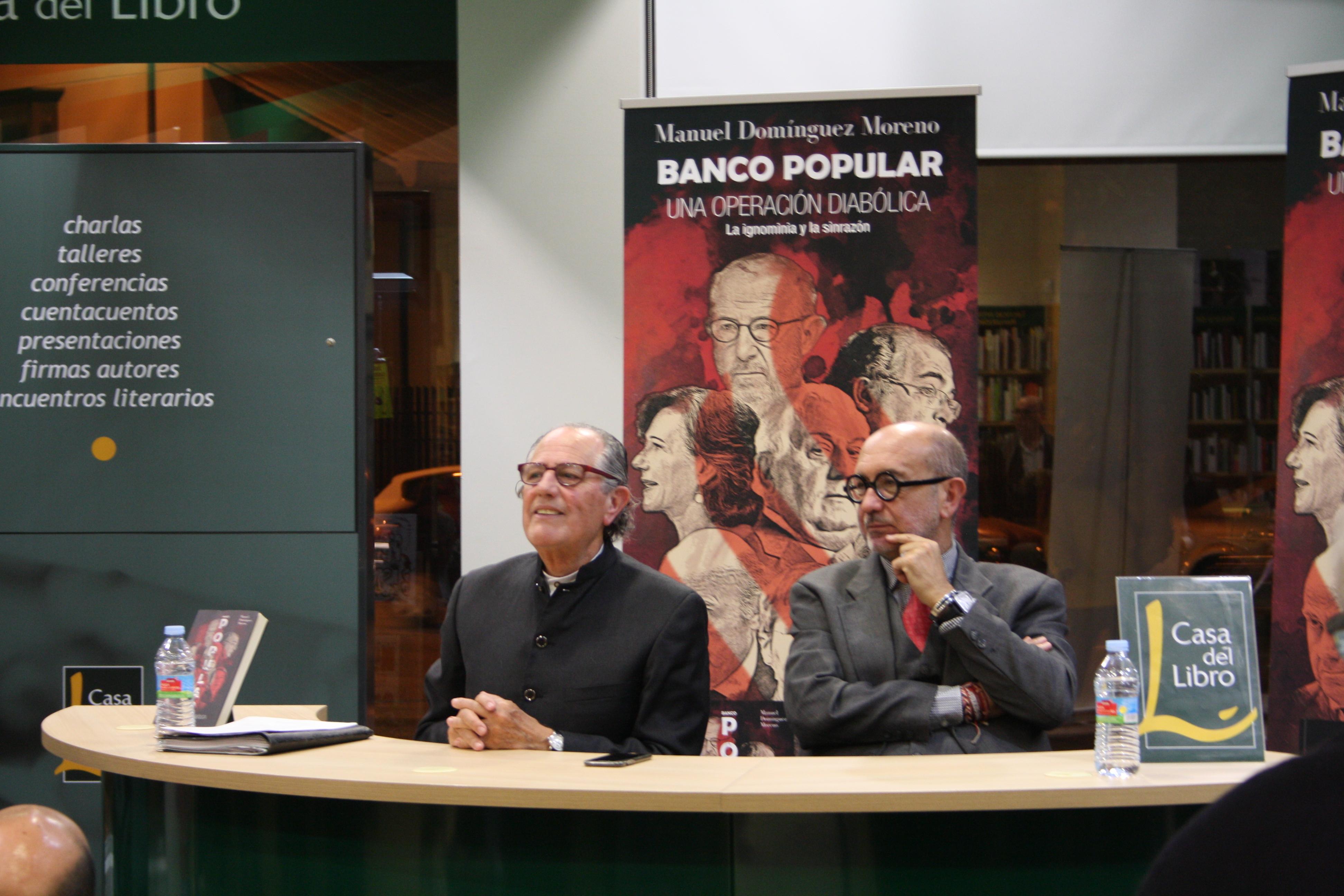 Manuel Domínguez presenta su libro sobre  el Banco Popular