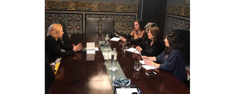 Reunión de ANSEMAC y Andalucía Emprende en Sanguino Abogados