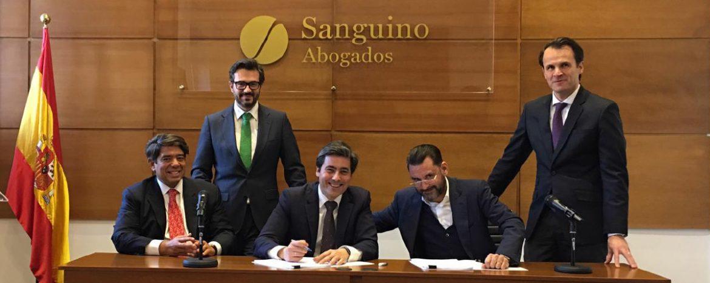 Sanguino Abogados canalizará inversiones de capital asiático en España y Portugal a través de Ebora