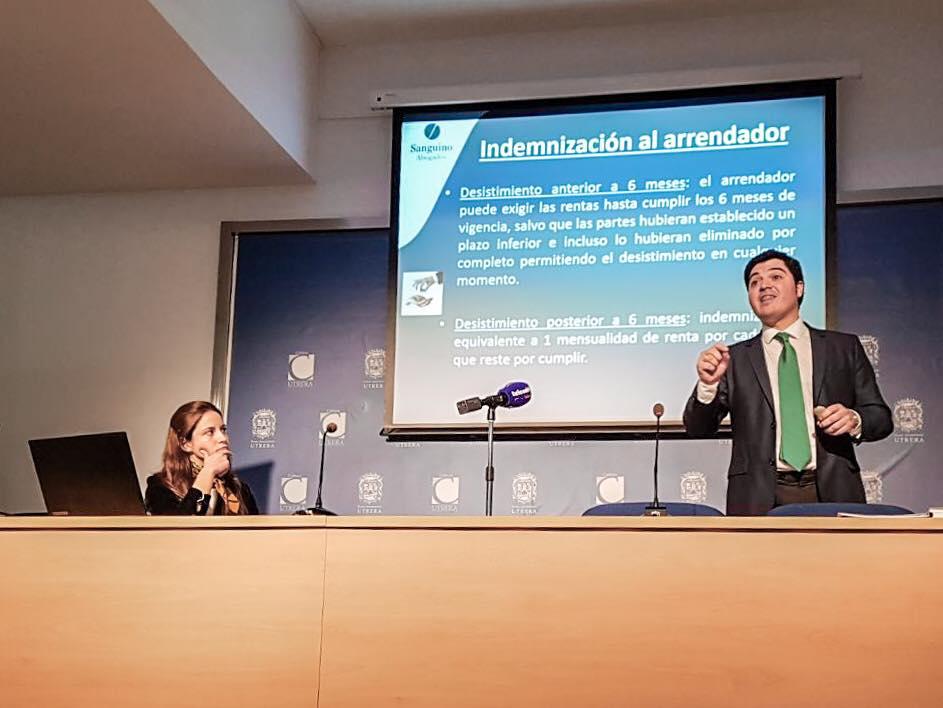 Sanguino Abogados analiza en Utrera los arrendamientos