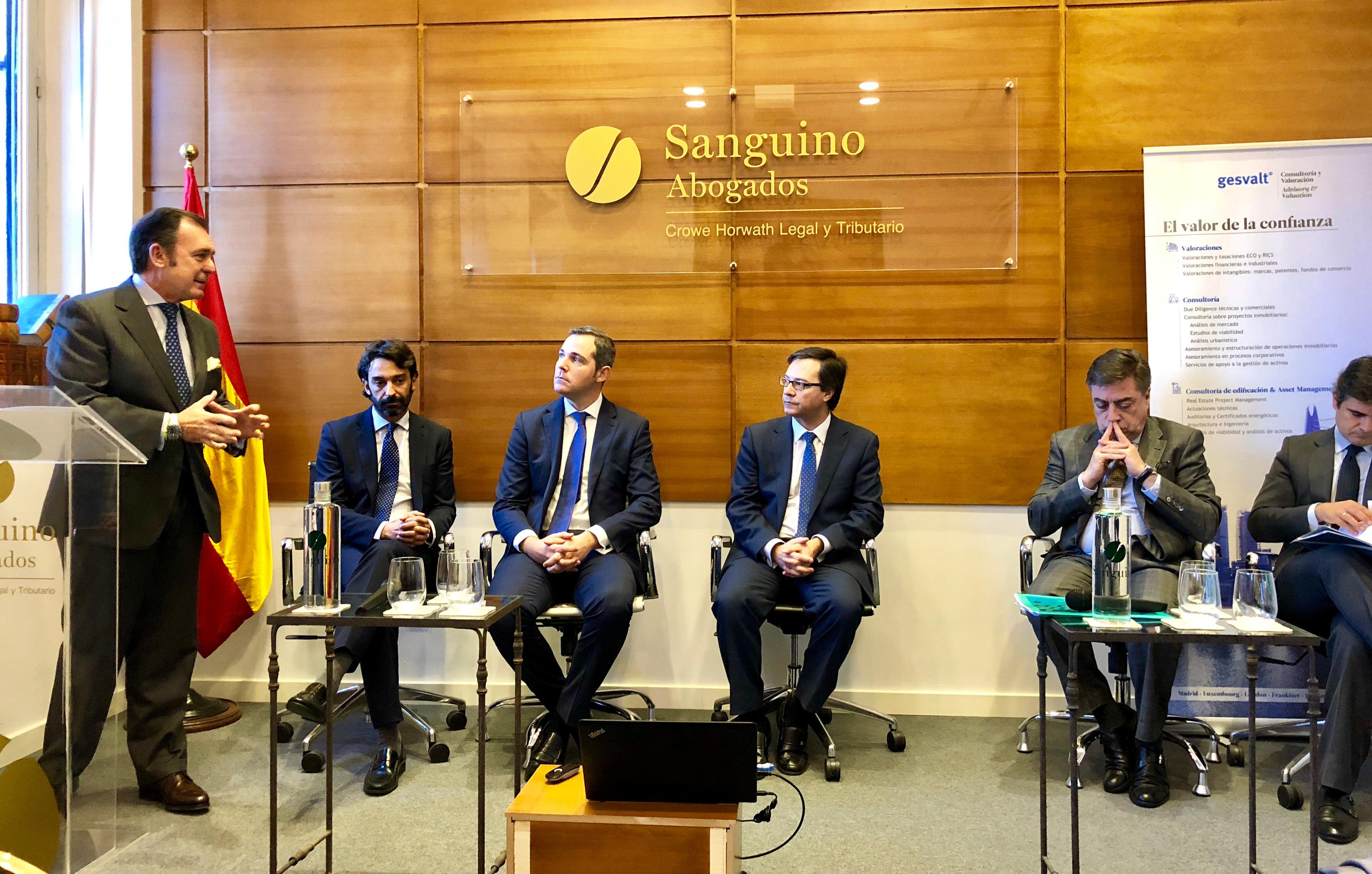 Sanguino Abogados y Gesvalt reúnen en Sevilla a 50 empresas e inversores en una jornada sobre las SOCIMI
